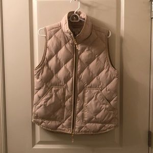 *popular item* J Crew Duvet Puffer Vest Tan/Cream